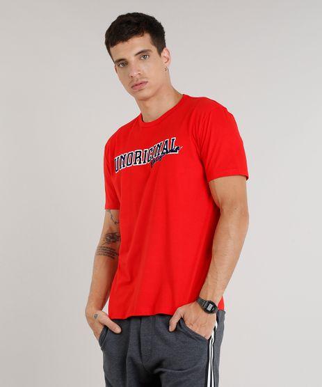 Camiseta-Masculina--Unoriginal--Manga-Curta-Gola-Careca-Vermelha-9333629-Vermelho_1