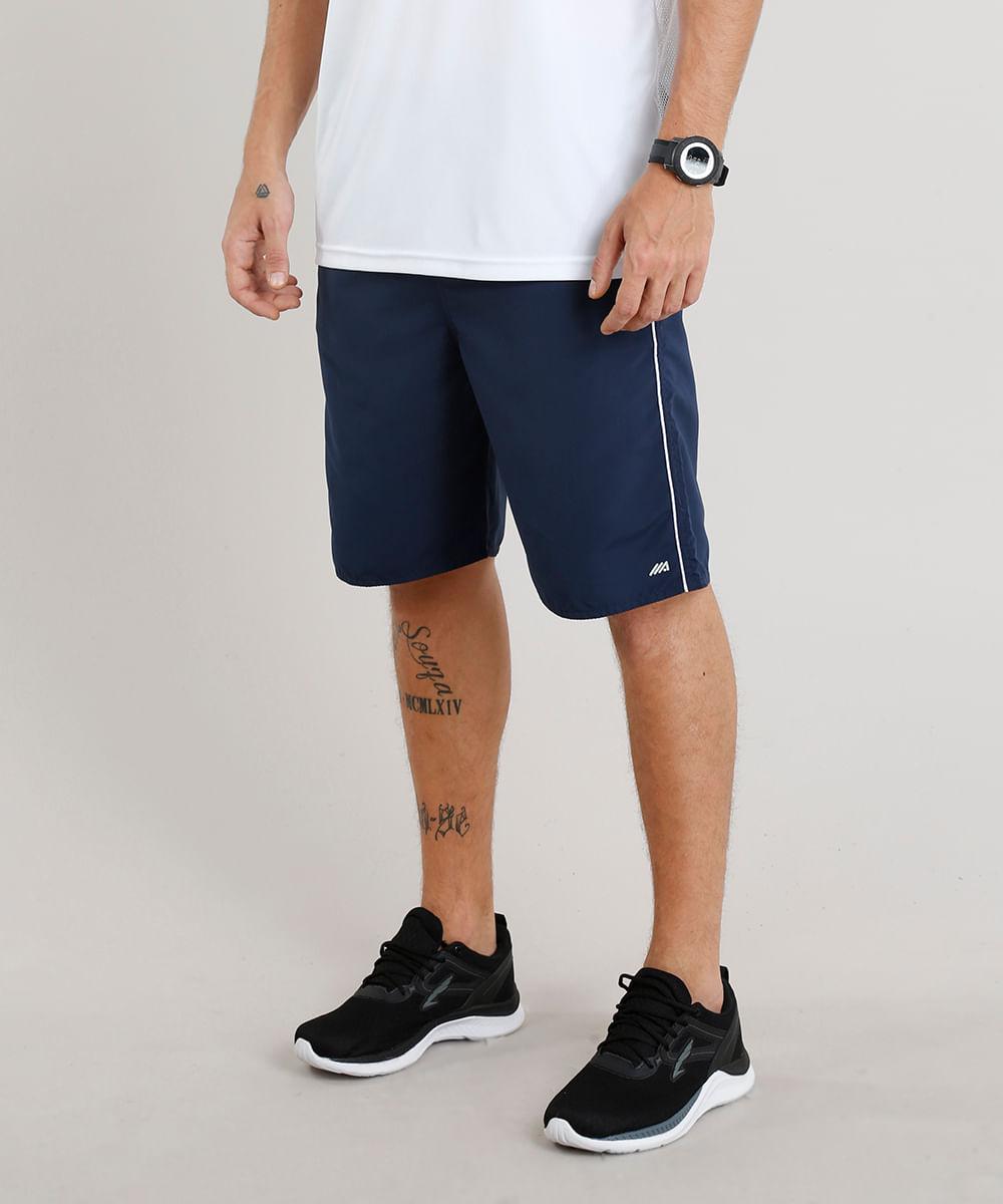 Bermuda Masculina Esportiva Ace com Vivo Contrastante Azul Marinho ... d87c0765c6a4b