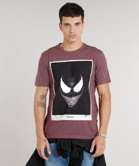 Camiseta-Masculina-Venom-Manga-Curta-Gola-Careca-Vinho-9306112-Vinho_1