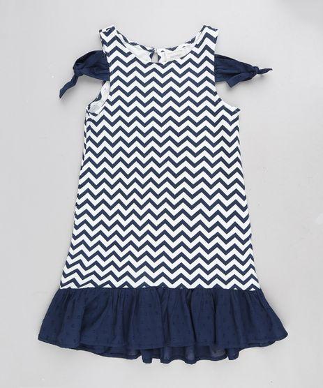 Vestido-Infantil-Open-Shoulder-Estampado-Chevron-com-No-e-Babado-Azul-Marinho-9212908-Azul_Marinho_1