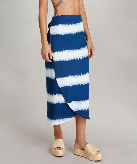 Saia-Midi-Envelope-Feminina-Dress-To-Tie-Dye-com-Faixa-de-Amarrar-Azul-Marinho-9242202-Azul_Marinho_1