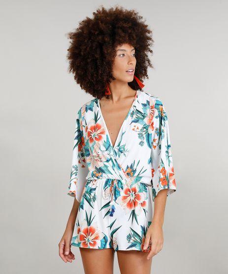 Macaquinho-Feminino-Dress-To-Estampado-Floral-com-Protecao-UV50--Branco-9242182-Branco_1