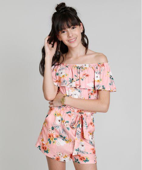7786043055 Blusa Infantil Cropped Ciganinha Love Dress Estampada Floral Surf ...