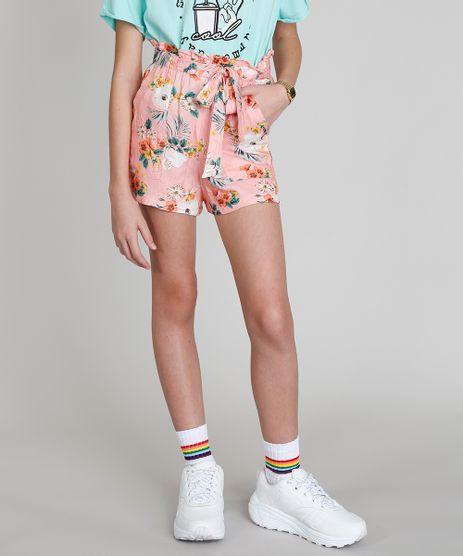Short-Infantil-Clochard-Love-Dress-Estampado-Floral-Surf-com-Faixa-de-Amarrar-Rose-9281200-Rose_1