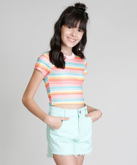 Blusa-Infantil-Cropped-Love-Dress-Listrada-Manga-Curta-Coral-9303274-Coral_1