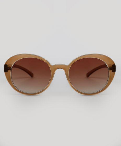 Oculos-de-Sol-Redondo-Feminino-Oneself-Marrom-9341000-Marrom_1