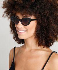 Óculos de Sol Gatinho Feminino Dress To Preto - ceacollections 9c6a217c5c
