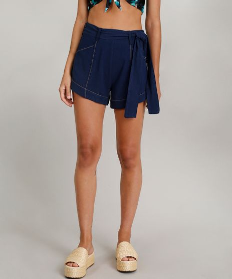 Short-Feminino-Dress-To-Linho-com-Faixa-de-Amarrar-Azul-Marinho-9226552-Azul_Marinho_1