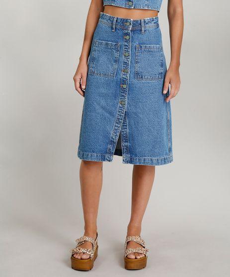 Saia-Jeans-Feminina-Midi-Dress-To-com-Fenda-Azul-Medio-9269777-Azul_Medio_1
