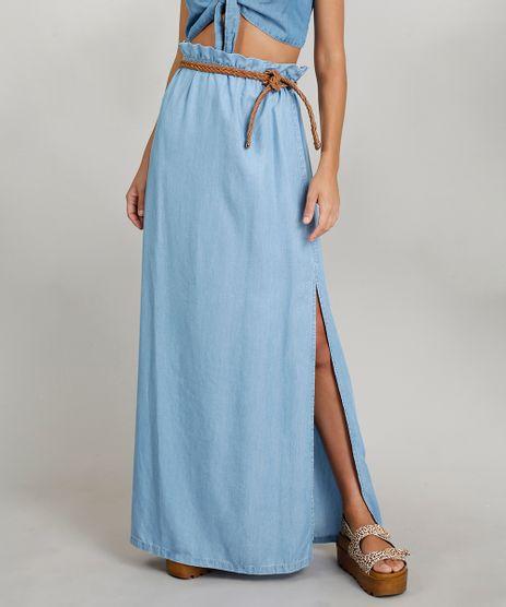 Saia-Jeans-Longa-Feminina-Dress-To-com-Cinto-Trancado-Azul-Claro-9269785-Azul_Claro_1