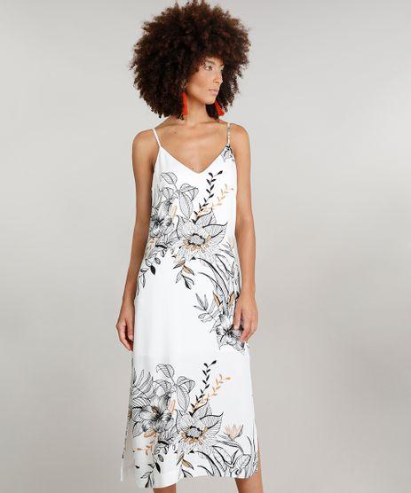 Vestido-Midi-Feminino-Dress-To-Estampado-Floral-com-Fendas-Alcas-Finas-Decote-V-Branco-9226560-Branco_1