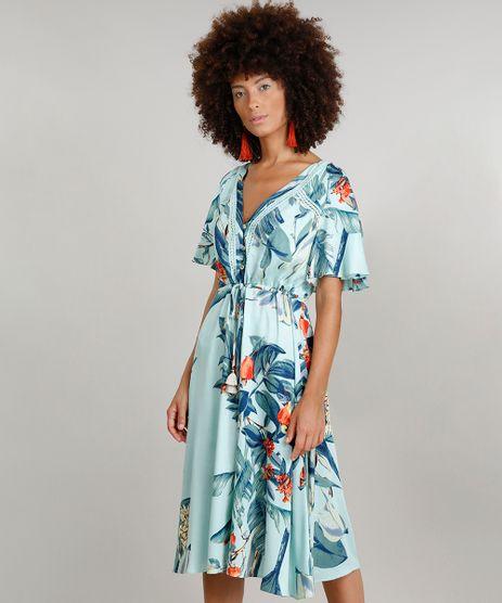 Vestido-Feminino-Midi-Dress-To-Estampado-de-Caju-com-Babado-Decote-V-Verde-Claro-9225243-Verde_Claro_1