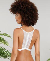 402cf4587 Sutiã Triângulo Dress To em Renda Sem Bojo Off white - ceacollections