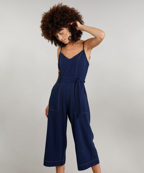 Macacao-Pantacourt-Feminino-Dress-To-Linho-com-Faixa-de-Amarrar-Azul-Marinho-9226550-Azul_Marinho_1