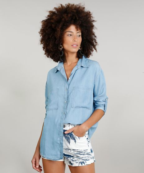 Camisa-Jeans-Feminina-Dress-To-Manga-Longa-Azul-Claro-9269786-Azul_Claro_1