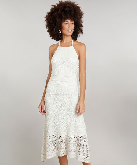 c79585389 Vestido-Feminino-Halter-Neck-Midi-Dress-To-em-