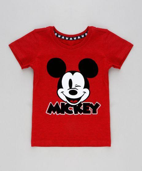 Camiseta-Infantil-Mickey-Manga-Curta-Gola-Careca-Vermelha-9300593-Vermelho_1