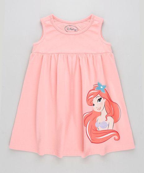 Vestido-Infantil-Princesas-Pequena-Sereia-Ariel-Sem-Manga-Coral-9320874-Coral_1