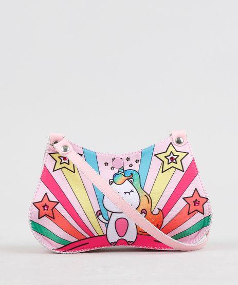 Bolsa-Infantil-Estampada-de-Unicornio---Elasticos-de-Cabelo-Rosa-Claro-9239118-Rosa_Claro_1