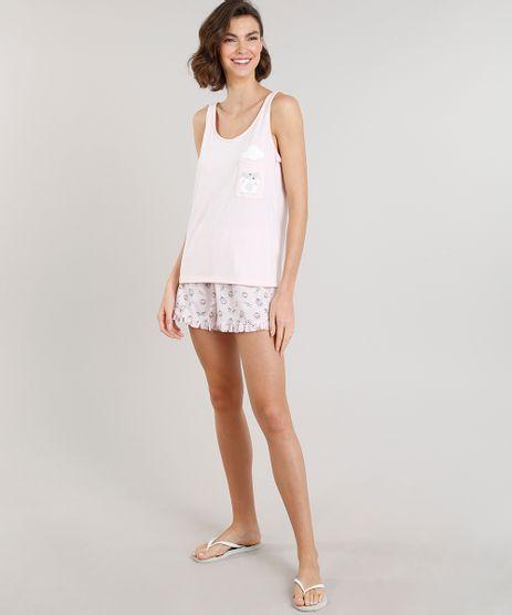 Pijama-Feminino-com-Estampa-de-Ratinho-com-Bolso-Rosa-Claro-9281242-Rosa_Claro_1