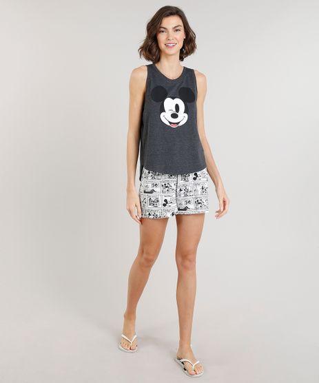 Pijama-Feminino-Mickey-Mouse-com-Estampa-Cinza-Mescla-Escuro-9296701-Cinza_Mescla_Escuro_1