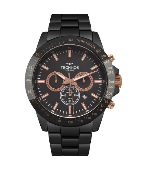 Relógio Technos Masculino Ceramic Preto JS25BU 4P - cea 540af81dea