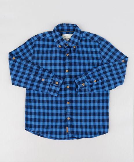 Camisa-Infantil-em-Flanela-Estampada-Xadrez-Manga-Longa-Azul-9187080-Azul_1