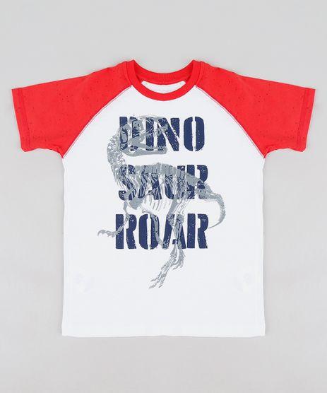 Camiseta-Infantil-Dinossauro-Raglan-Manga-Curta-Gola-Careca- d96d4526dfb20