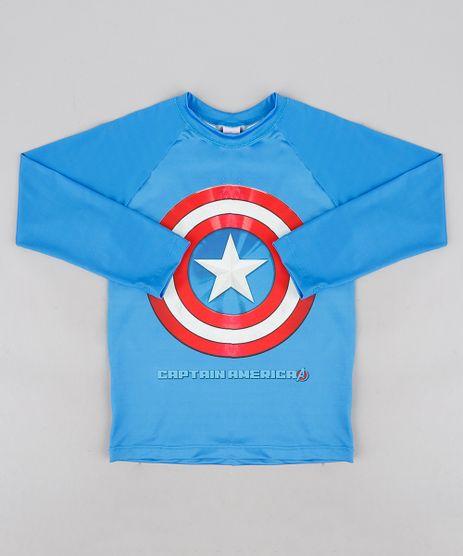 Camiseta-de-Praia-Infantil-Capitao-America-com-Protecao-UV50--Azul-Royal-9231835-Azul_Royal_1