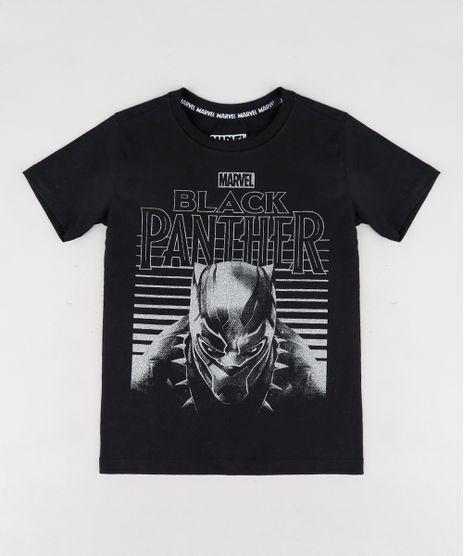 Camiseta-Infantil-Pantera-Negra-Manga-Curta-Gola-Careca-Preta-9300861-Preto_1