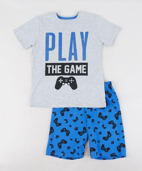 Pijama-Infantil-Video-Game-Manga-Curta-Cinza-Mescla-9288238-Cinza_Mescla_1