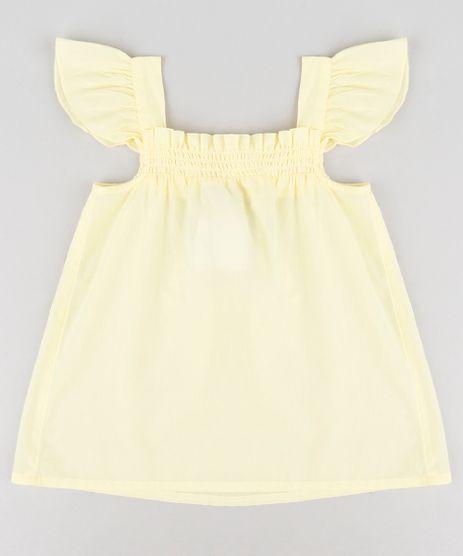 Bata-Infantil-com-Babado-Sem-Manga-Amarela-9182777-Amarelo_1
