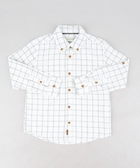 Camisa-Infantil-em-Flanela-Estampada-Xadrez-Manga-Longa-Branca-9187080-Branco_1