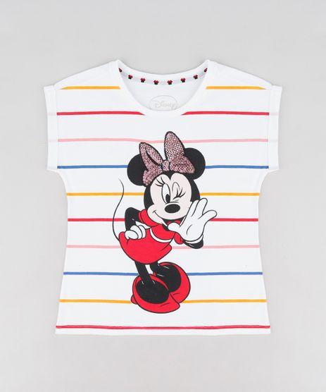 Blusa-Infantil-Minnie-com-Paetes-Manga-Curta-Decote-Redondo-Branca-9300991-Branco_1