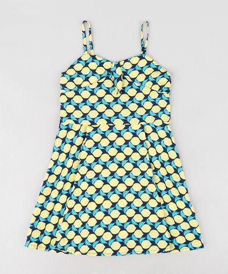 Vestido-Infantil-Evase-Estampado-de-Limoes-Alcas-Finas-Azul-Marinho-9127260-Azul_Marinho_1