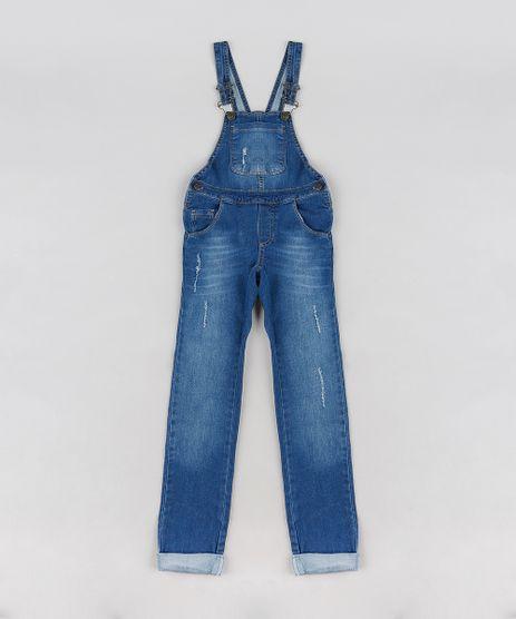 Macacao-Jeans-Infantil-com-Puidos-Azul-Medio-9064178-Azul_Medio_1
