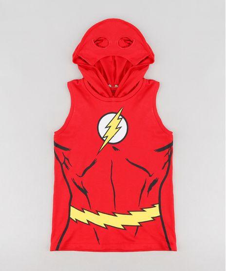 Regata-Infantil-The-Flash-com-Capuz-com-Mascara-Vermelha-9322353-Vermelho_1