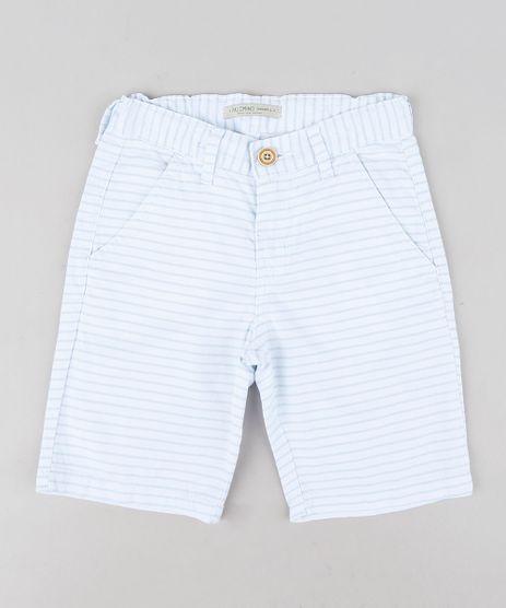 Bermuda-Color-Infantil-Slim-Listrada-Branca-9312886-Branco_1