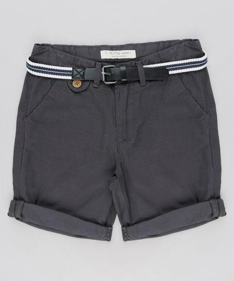 Bermuda-Color-Infantil-Slim-com-Cinto-Chumbo-9194510-Chumbo_1