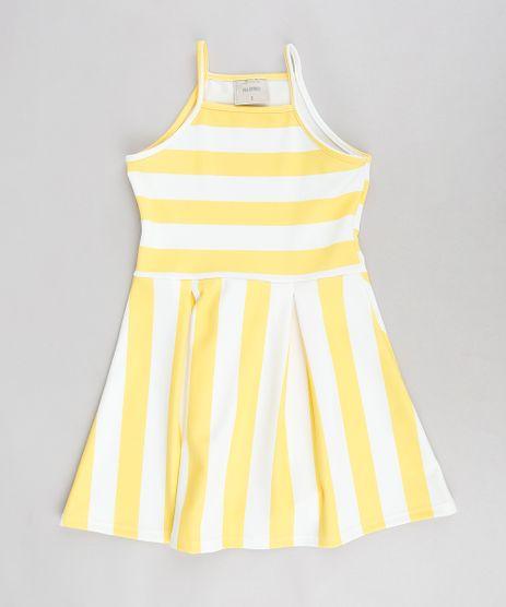 Vestido-Infantil-Evase-Halter-Neck-Listrado-Amarelo-9337793-Amarelo_1