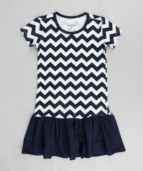 Vestido-Infantil-Estampado-Chevron-Manga-Curta-Gola-Redonda-Azul-Marinho-9376308-Azul_Marinho_1
