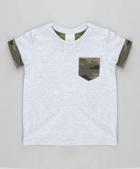 Camiseta-Infantil-com-Bolso-Estampado-Camuflado-Manga-Curta-Gola-Careca-Cinza-Mescla-Claro-9303314-Cinza_Mescla_Claro_1