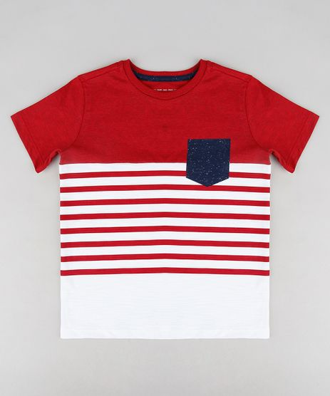 Camiseta-Infantil-com-Recorte-e-Bolso-Manga-Curta-Gola-Careca-Vermelha-9313643-Vermelho_1