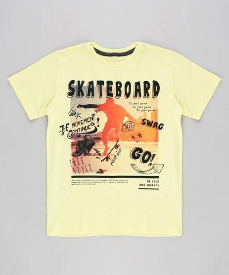Camiseta-Infantil--Skateboard--Manga-Curta-Gola-Careca-Amarela-9316340-Amarelo_1