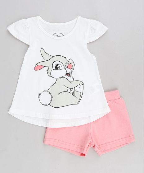 Conjunto-Infantil-Tambor-Bambi-de-Blusa-Manga-Curta-Off-White---Short-em-Moletom-Rosa-1-8742088-Rosa_1_1