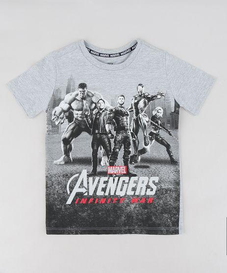 Camiseta-Infantil-Os-Vingadores-Guerra-Infinita-Manga-Curta-Gola-Careca-Cinza-Mescla-Claro-9300843-Cinza_Mescla_Claro_1