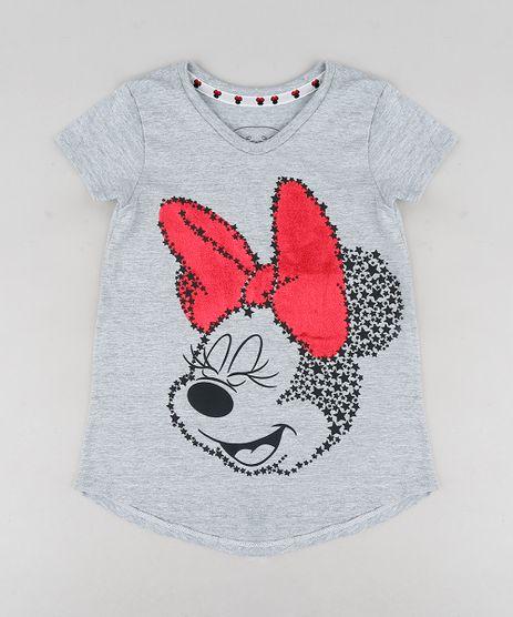 Blusa-Infantil-Minnie-Manga-Curta-Decote-Redondo-Cinza-Mescla-9300983-Cinza_Mescla_1