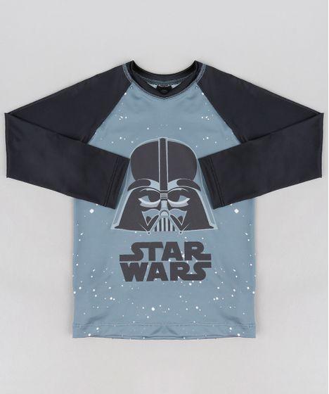 e805218f9 Camiseta de Praia Infantil Darth Vader Star Wars com Proteção UV50+ ...