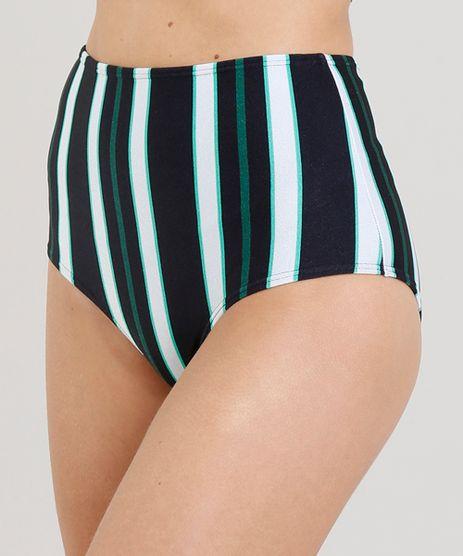 Biquini-Calcinha-Hot-Pant-Estampada-Listras-com-Protecao-UV50--Preta-9234731-Preto_1
