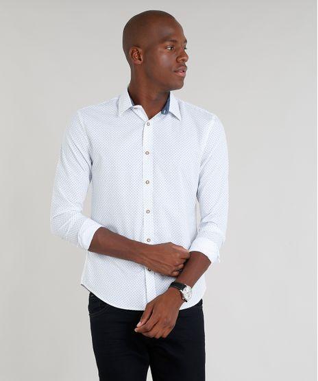 Camisa-Masculina-Slim-Estampada-Mini-Print-Paisley-Manga-Longa-Branca-9167869-Branco_1